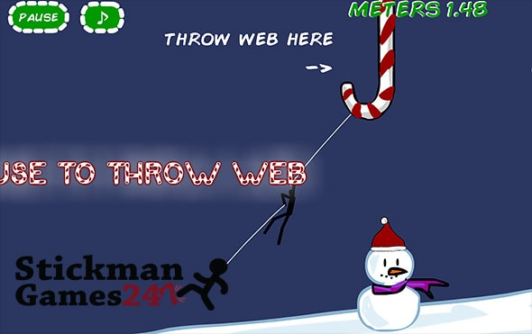 image of Spider Stickman 5: Throw web to cling onto things
