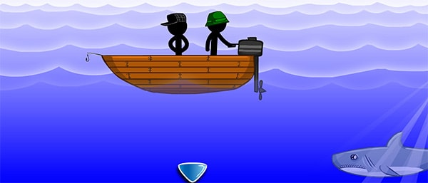 Stickman Jam: Stickman boat and the shark