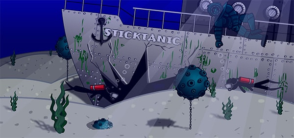 Stickman Jam: under the sea
