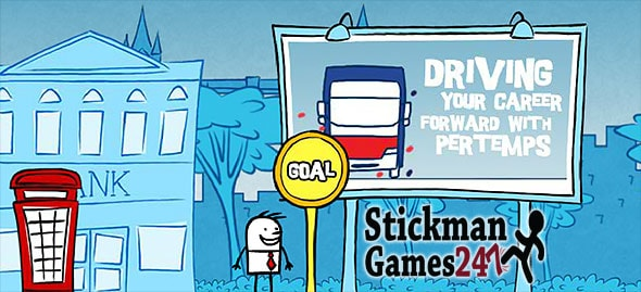 image of Stickman Job Runner: bus stop is your first goal