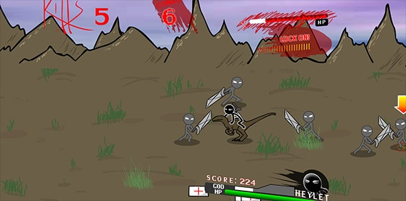image of The Last Stick: game scene